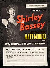 Shirley Bassey: UK concert handbill 24th March 1963