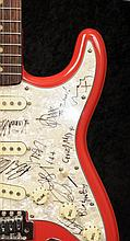 Bloc Party / The Zutons: a guitar autographed by bands