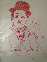 Michael Jackson : Drawing of Charlie Chaplin