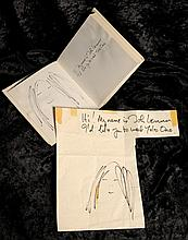 The Beatles: A copy of 'Grapefruit' with an original drawing by John Lennon,