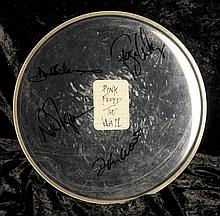 Pink Floyd: A drum skin signed by the band, 1980s