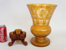 Bohemian Glassware Lot
