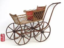 Wicker Doll Carriage