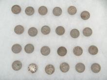 (24) Buffalo Nickels
