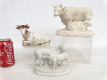 Parian Cow Figurines