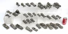 Collection Of 36 English Pewter Model Cars