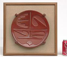 Rose Gonzales (1900-1989), Redware Plate