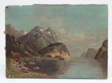 19th c. Painting Landscape