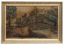 19th c. Painting On Velvet