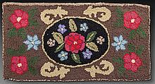Floral Hooked Rug