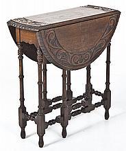 Jacobean Revival Gate Leg Table