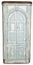Blind Double Door Architectural Corner Cupboard