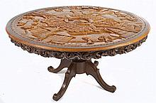 Filipino Carved Dining Table