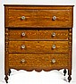 Grain Decorated Empire Chest of Drawers