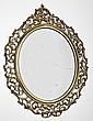 Gilt Gesso and Wood Oval Mirror