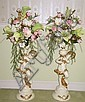Pair Figural Flower Stands