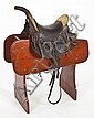Very Fine & Rare Western Child's Saddle Texas
