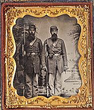 Double Image Civil War Cased Tintype