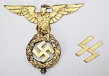 German WWII Flag Pole Eagle & Emblem