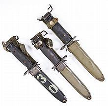 Three US M-7 Bayonets