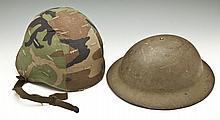 Two Military Helmets