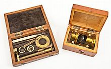 Two Cased Portable Microscopes