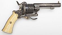 European Engraved Pinfire Revolver - 8mm Cal.