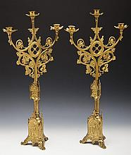 Pair of Gothic-Style Candelabras