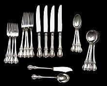 22 Pc Towle Old Master Sterling Flatware