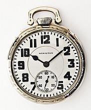 Hamilton 992 21J Railroad Model Pocket Watch