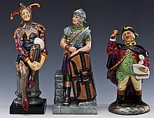 3 Royal Doulton Figures Incl The Jester