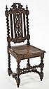 Jacobean Carved Oak Side Chair