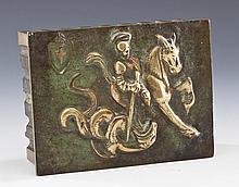 Cast Bronze Box Depicting St. George of Lydda