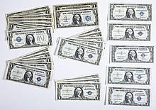 28 $1.00 Silver Certificates 1928-1957