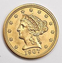 1907 Liberty Head $2.50 Gold Quarter Eagle