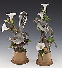Pair of Boehm Limited Edition Mockingbirds
