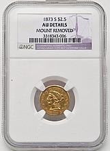 1873-S Liberty Head $2.50 Gold NGC AU Details
