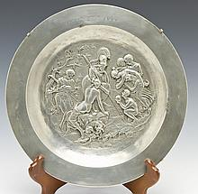 Cast Pewter Plate of the Judgment of Paris
