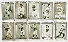 10 Baseball's Great Hall of Fame Exhibit Cards