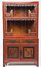 Chinese Lacquered Palace Cupboard