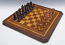 A.H. Andrews & Co. Chess Pieces and Game Board