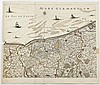 Antique Map Dunkirk & Ypres Belgium