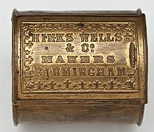 Hinks Wells Pen Nibs Vesta Case