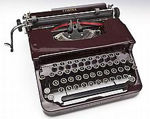 L.C. Smith and Corona Sterling Maroon Typewriter
