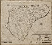 1753 Gerard Van Keulen Map of Barbados