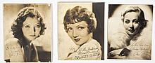 3 Signed Headshots of Hollywood Actresses