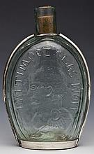 Taylor/Washington Flask with Sterling Frame