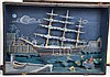 Folk Art Boston Tea Party Diorama