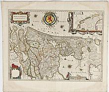 C 1640 Hollandia Comitatus Map W.J. Blaeu
