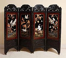 CHINESE FOLDING SCREEN WITH FOUR PANELS